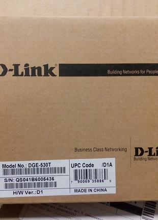 Сетевой адаптер D-Link DGE-530T+ крепление low profile