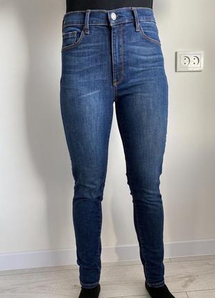 Джинсы с высокой талией, синие джинсы gap.