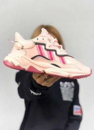 Adidas удобные женские кроссовки адидас в розовом цвете рефлек...