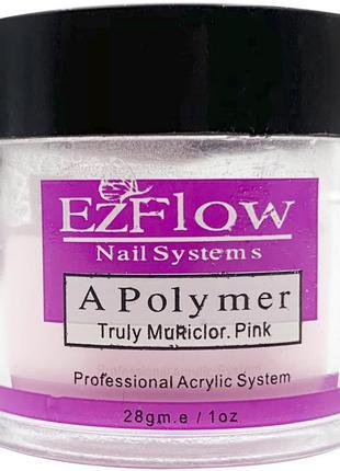 Акриловая пудра ezflow, 28г. (розовая)