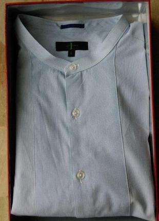 Мужская рубашка сорочка стойка воротник