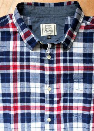 Рубашка george размер ххl (54-56) лён