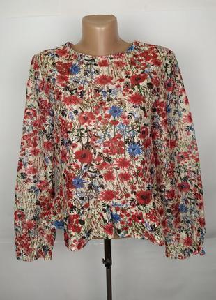 Блуза красивая ажурная в цветы primark uk 10/38/s
