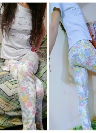 Цветочные штаны flame