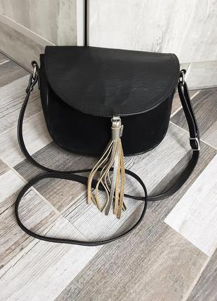 Кожаная сумка кроссбоди.  италия