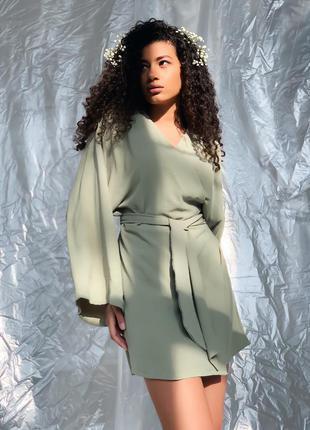 Платье кимано оливка