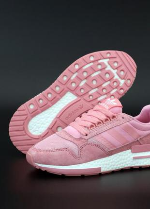 Adidas zx 500 шикарные женские кроссовки адидас розовые