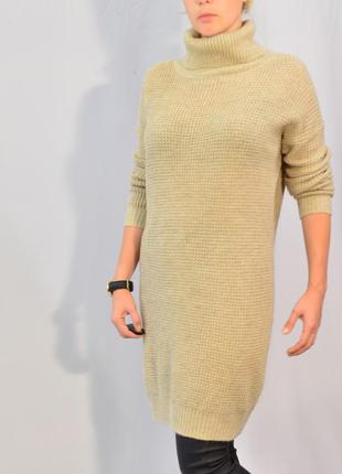 2962\110 платье свитер бежевого цвета warehouse xl