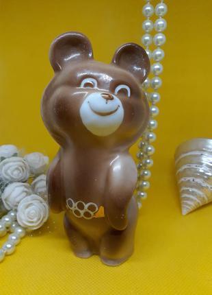 Олимпийский мишка фарфоровая статуэтка ссср барановского фарфо...