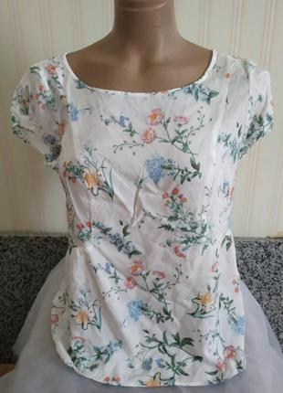 Нежная летняя вискозная блузка м