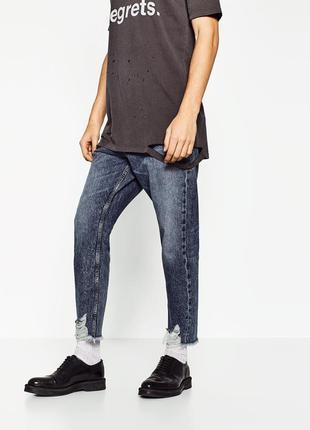 Чоловічі джинси zaraman legend slim fit button fly jeans