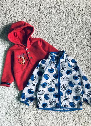 Кофта с капюшоном свитер флиска на малыша