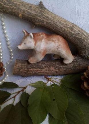 Статуэтка медведица, 40-е годы, гжель, турыгино из бисквитного...