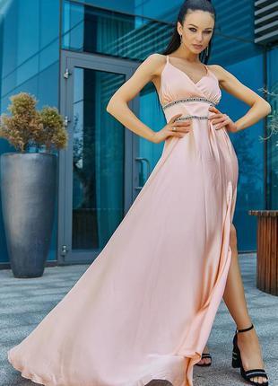 Шикарное макси платье шелк