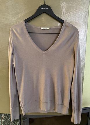 Пуловер шерсть мериноса дорогой бренд stefan green размер m/l