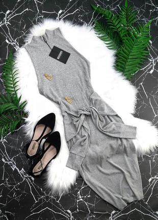 Облегающее миди платье с поясом missguided