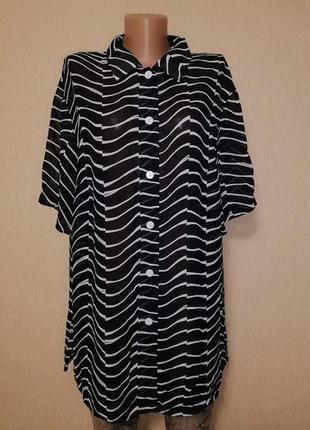 🔥🔥🔥стильная рубашка, кардиган, блузка батального размера gatsb...