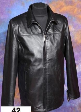 Мужские кожаные куртки в больших размерах.