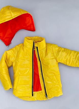 Демисезонная куртка с отстежным капюшоном и светоотражательным...