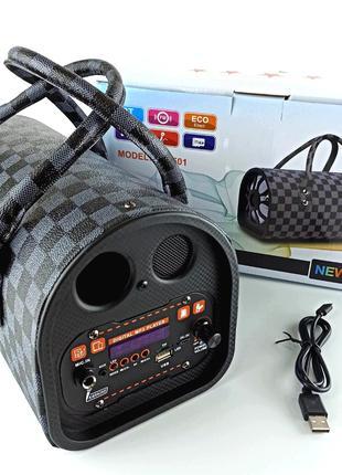 Беспроводная портативная bluetooth колонка - чемодан с караоке