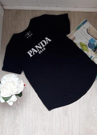 Черная классная футболка размер м chicoree