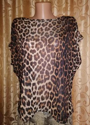 🌹🌹🌹стильная женская леопардовая блузка, топ, кофта new look🌹🌹🌹