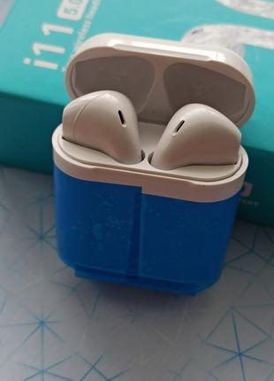 Наушники MDR AirPods i11 BT + сенсор + кейс