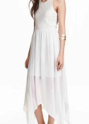 Платье белое h&m