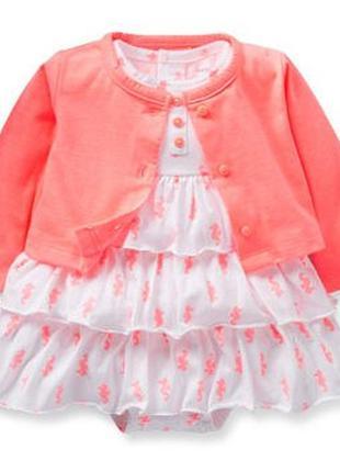 Детское летнее платье с болеро на девочку фирмы сarters