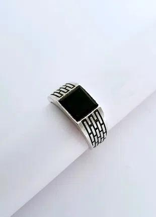 Серебряная мужская печатка, перстень, кольцо