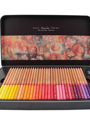 Карандаши цветные Marco Renoir Fine Art 100 цветов