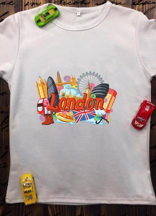 Мужская футболка с принтом - лондон