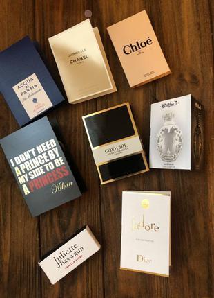 Набор пробников топовых парфюмов chanel dior chloe оригинал
