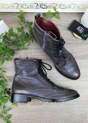 🌿38🌿европа🇪🇺 roberto santi. кожа. стильные ботинки на низком ходу