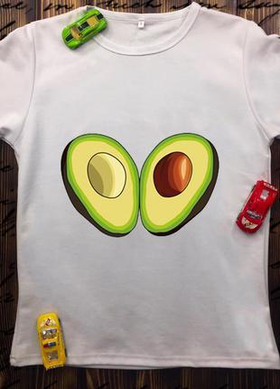 Мужская футболка с принтом - авокадо
