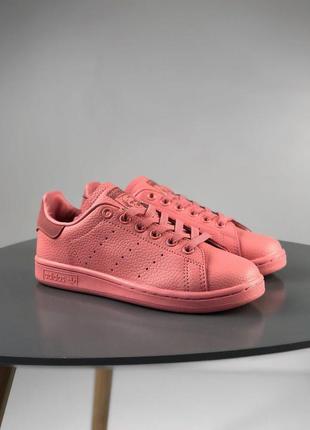 Распродажа🔥кожаные женские кроссовки adidas stan smith розовые...
