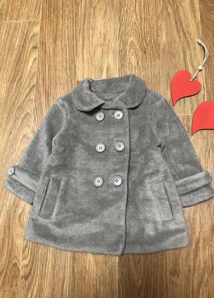 Крутое стильное пальто шубка на хб подкладке next