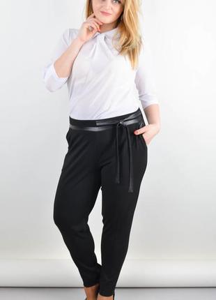 Размеры 50-56! стильные брюки с асимметричным низом, большие р...