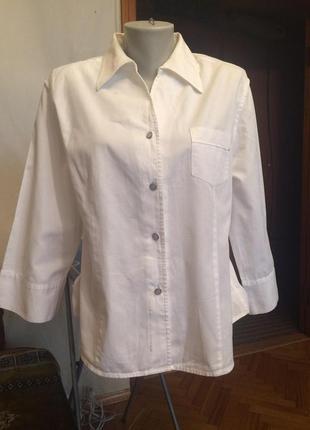 Стильная белая рубашка,блузка,хлопок viva