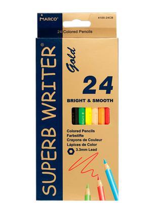 Карандаши цветные Marco Superb Writer Gold 24 цвета (E4100G-24CB)
