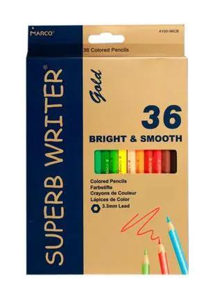 Карандаши цветные Marco Superb Writer Gold 36 цветов E4100G-36CB