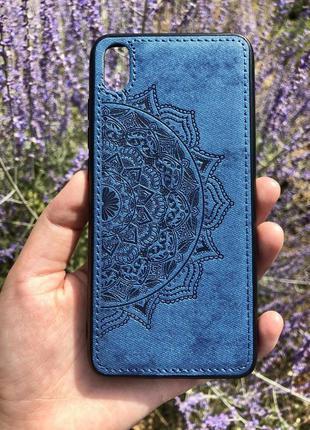 Чехол тканевая поверхность с узором huawei samsung xiaomi