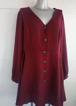 Красивое платье primark бордового цвета