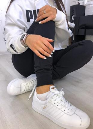 Adidas gazelle white шикарные женские кроссовки адидас газели ...