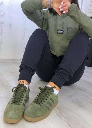 Adidas gazelle khaki шикарные женские кроссовки адидас газели ...