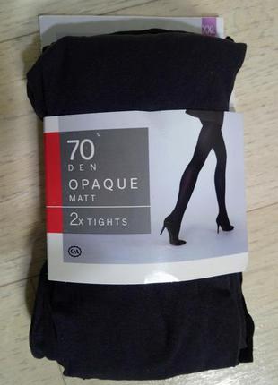 New!матовые колготки черные/серые 70 den c&a сток большой разм...