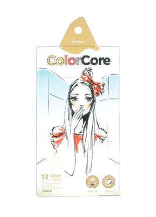 Карандаши цветные Marco Color Core 12 цветов (3130-12CB)