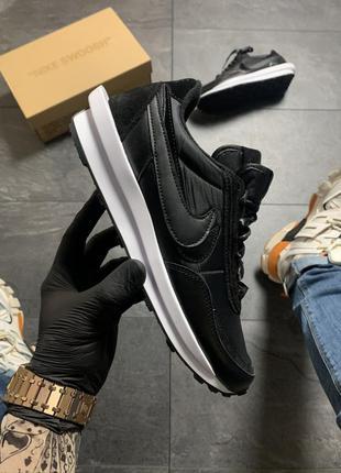 Nike ld waffle sacai black white
