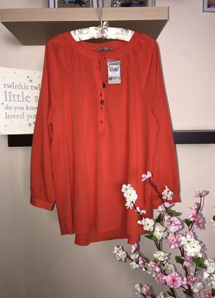Яркая, очень красивая шифоновая блузка, женская блуза, туника