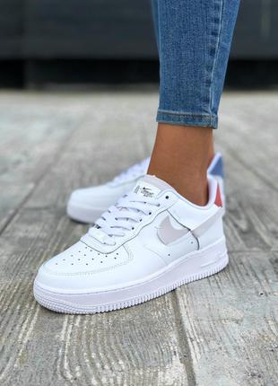 Nike air force 1 low шикарные женские кроссовки найк белые